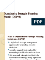 Quantitative Strategic Planning Matrix (QSPM)
