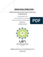 Laporan Hasil Penelitian Parati Persatuan Pembangunan