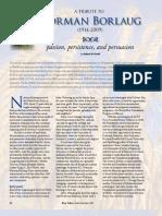RT Vol. 8, No. 4 Tribute to Norman Borlaug