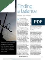 RT Vol. 8, No. 4 Finding a balance