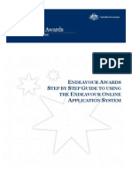 Step by Step Guide Endeavour Application System