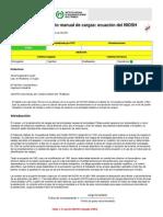 Levantamiento manual de cargas ecuación del NIOSH