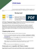 Network Printing With Ubuntu