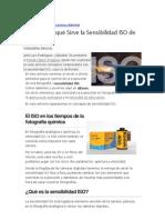 Sensibilidad ISO