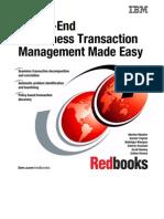 End-To-End E-business Transaction Management Made Easy Sg246080