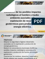 Evaluación de los posibles impactos radiológicos al hombre Geotermia