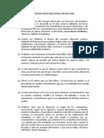 DIFERENCIAS ENTRE EDUCACIÓN E INSTRUCCIÓN