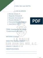 Contaminacion Del Suelo Investigacion de Campo Ecologia 6to