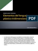 Elementos del lenguaje plástico tridimensional