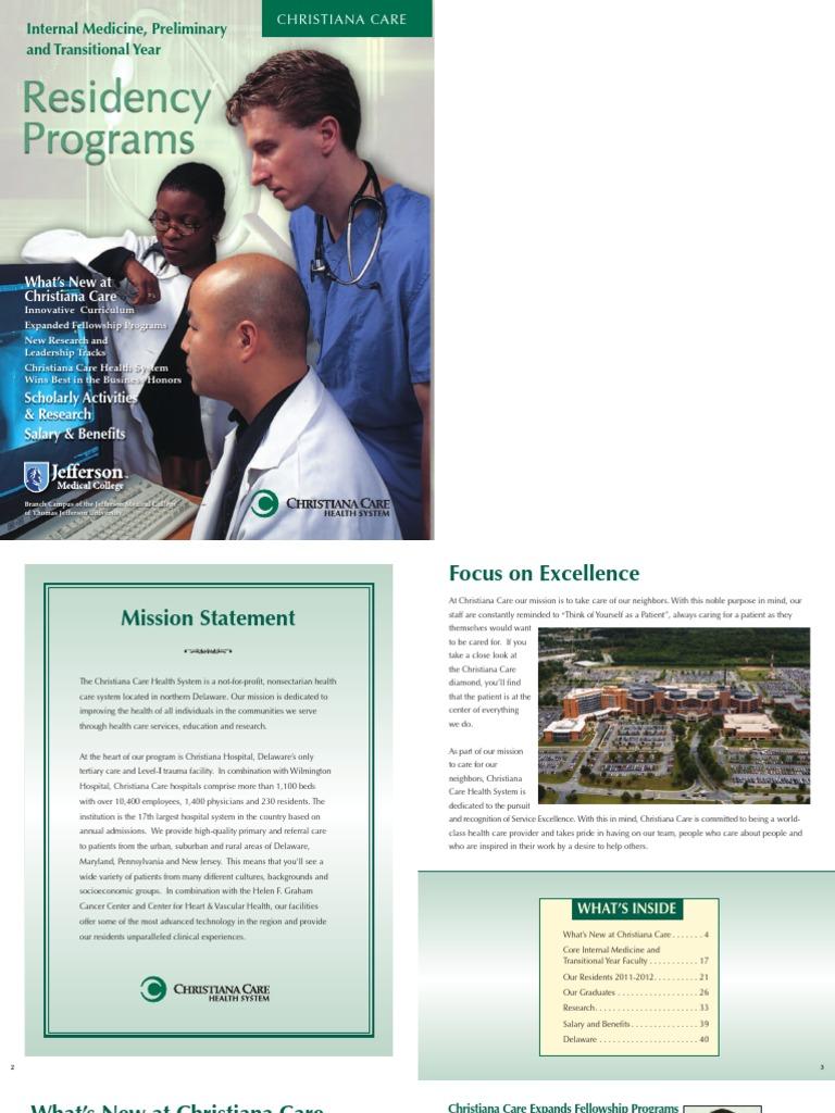 Internal Medicine Residency Brochure | Residency (Medicine