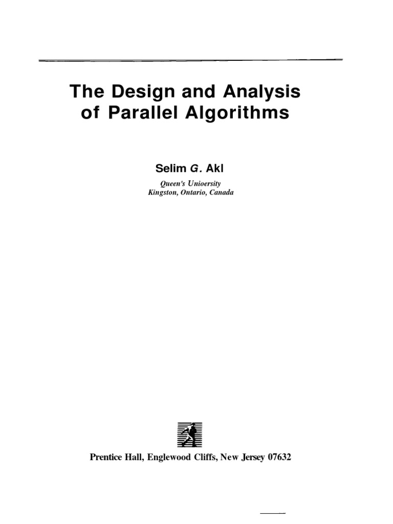 The Design And Analysis Of Parallel Algorithm By Sgakl  Parallel Puting  Central Processing Unit