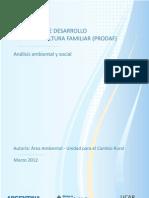 Marco de Salvaguardas Ambientales y Sociales del PRODAF