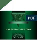 Strategic Marketing- Session 1 MBA 2011-13