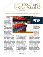 RT Vol. 8, No. 2 Drought-proof rice for African farmers