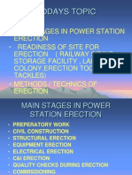 Main Stages in Power Station Erection