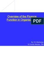 Overview of the Finance Function in Organ is at Ions