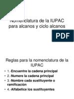 Nomenclatura de La IUPAC Clase de Organica