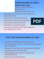 Steps for Commissioning of Drive , Pumps And