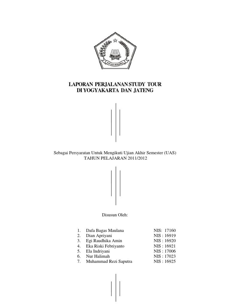 Best Contoh Halaman Persembahan Karya Tulis Study Tour Image Collection
