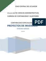 DISEÑO DE PRYECTO DE INVERSION PREGUNTAS + especializada