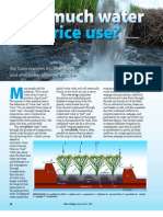 RT Vol. 8, No. 1 How much water does rice use