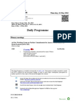 Bonn Climate Change Talks – Daily Schedule – May 24th, 2012