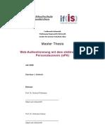 Christian J Dietrich MA Thesis Web Authentisierung Per ePA