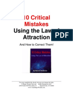 10 Critical Mistakes Using the Law of Attraction