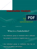 SAGAR Stakeholder Analysis