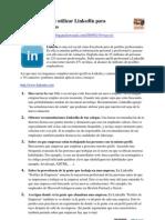 7 Pasos Para La Busqueda de Empleo 10 Mas 1 Maneras de Utilizar Linkedin