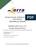 AXN Release Notes 1.0