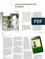 Smarter farming via text messaging