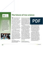 The Future of rice science