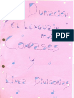 Trabajo - Compases y lineas divisorias - 1 F
