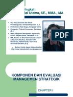 Komponen Dan Evaluasi Managemen Strategik 1