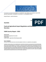 Food and Agricultural Import Regulations and Standards - Narrative_Canberra_Australia_07!21!2010