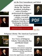 Religious Liberty Lesson 1