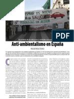Causas y tipologías del anti-ambientalismo español
