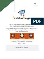 Dossier de presentación de PantallasAmigas (Mayo 2011)