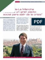 """""""Castilla-La Mancha necesita un gran pacto social para salir de la crisis"""""""