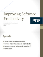 Improving Software Productivity