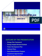 PH Energy Plan 2003-2012