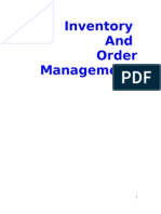 Inventory and Order Management