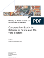 Comparative Study for Salaries in Public and Private Sectors