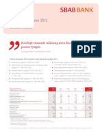 SBAB Bank Delårsrapport jan-mar 2012