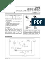 VB408 High Voltage Regulator 40mA