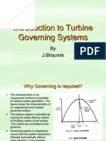 Introduction to Turbine Governing Systems