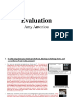 Amy Antoniou Evaluation