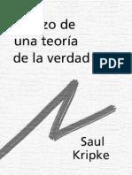 Kripke, Saul - Esbozo de Una Teoria de La Verdad