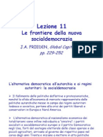 Lezione 11 Le Frontiere Della Nuova Socialdemocrazia